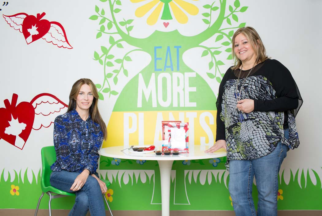 Hail Merry founder Susan O'Brien, left, and CEO Sarah Palisi Chaplin pose for a portrait at their Dallas Office. The company was founded on the drive to promote healthy living through organic, non-gmo and fair trade principles with their foods.