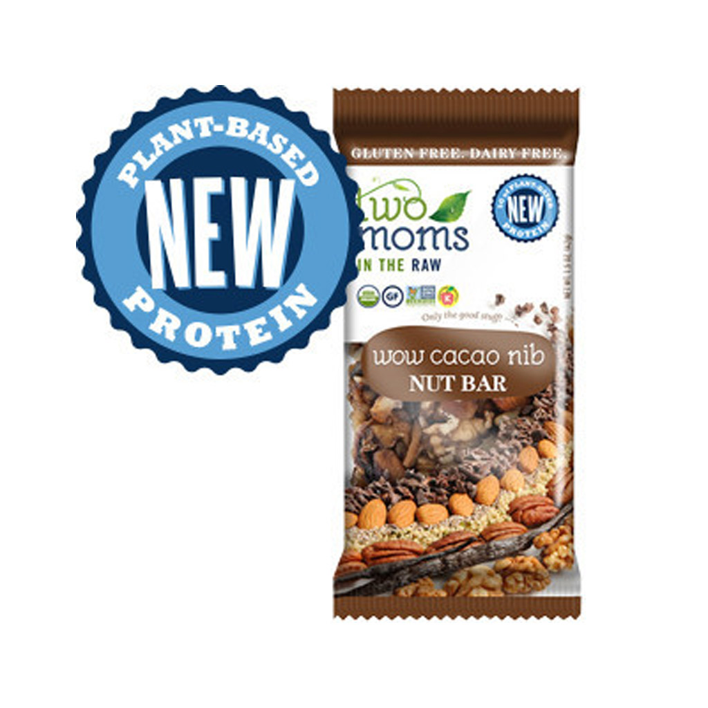 Two Moms Wow Cacao Nib Nut Bar