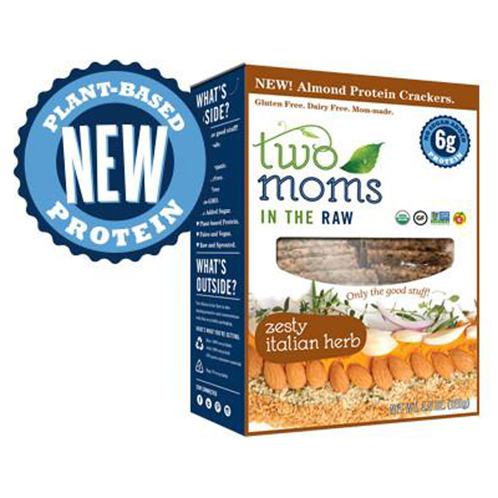 Two Moms Zesty Italian Herb Protein Crackers