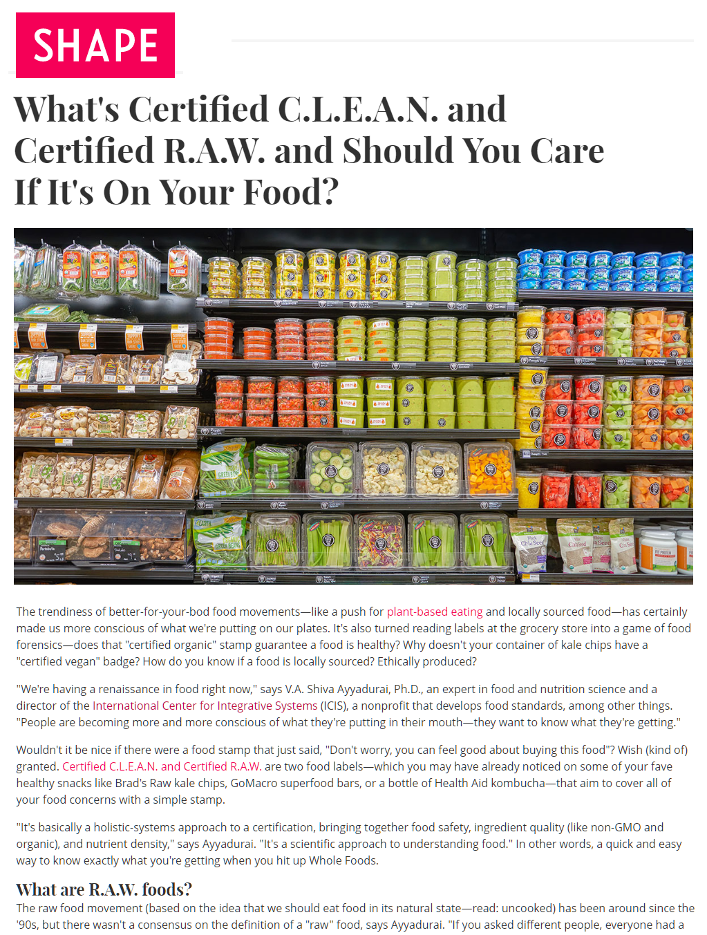 Whats Certified C.L.E.A.N. and Certified R.A.W. and Should You care If It's On Your Food